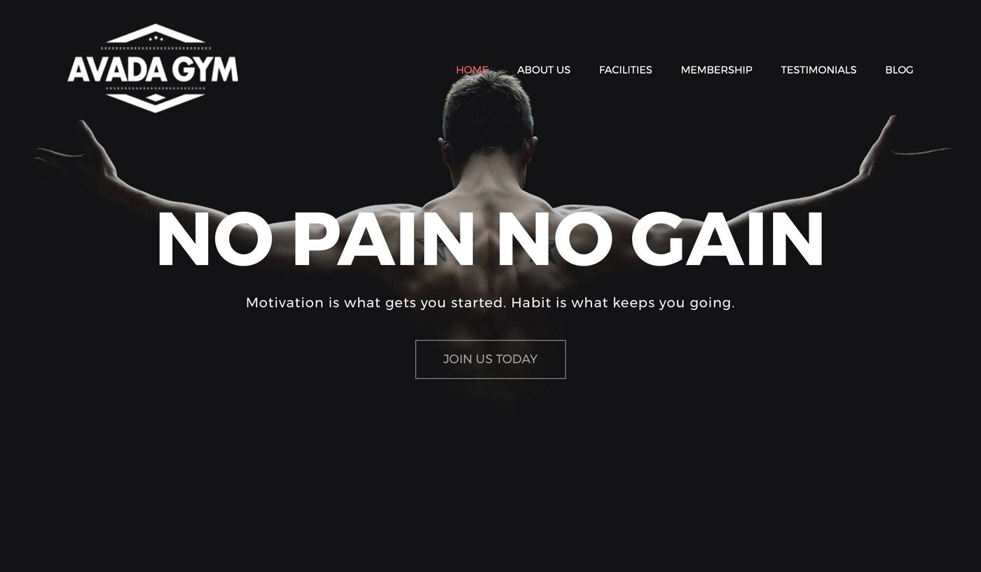 Fitnessstudio Webseiten Demo