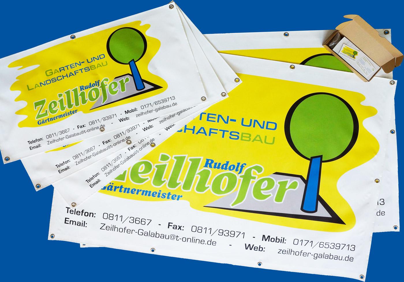 Garten und landschaftsbau visitenkarten  Garten und Landschaftsbau Zeilhofer - Visitenkarten, Werbeplanen ...