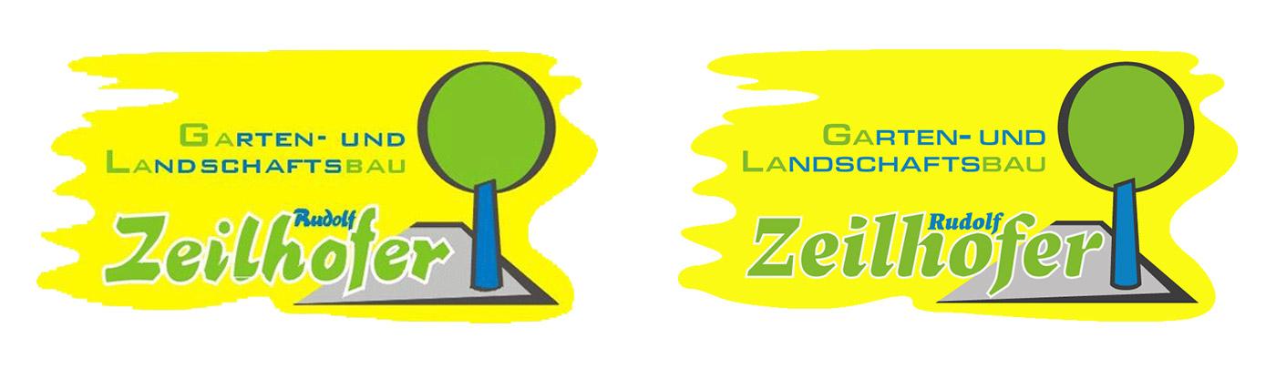 Garten und Landschaftsbau Rudolf Zeilhofer Logo Alt/Neu Vergleich