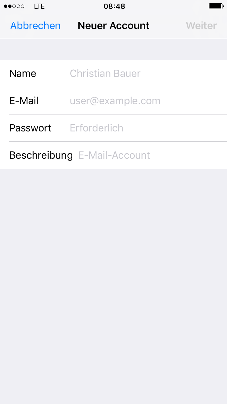 Apple Mail - iPhone 4