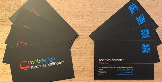 Webseiten Andreas Zeilhofer Visitenkarte