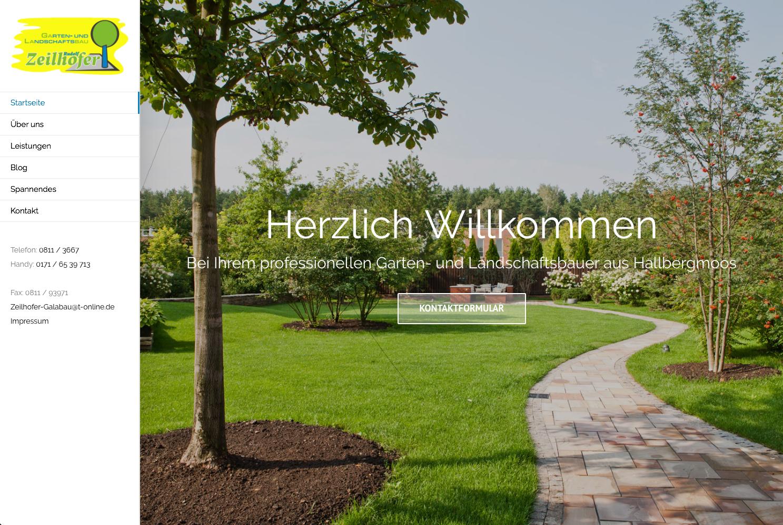 Garten- und Landschaftsbau Rudolf Zeilhofer Webseite